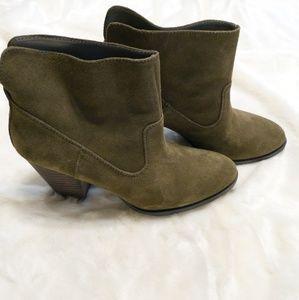 Nine West Mossy Green Booties - 9M